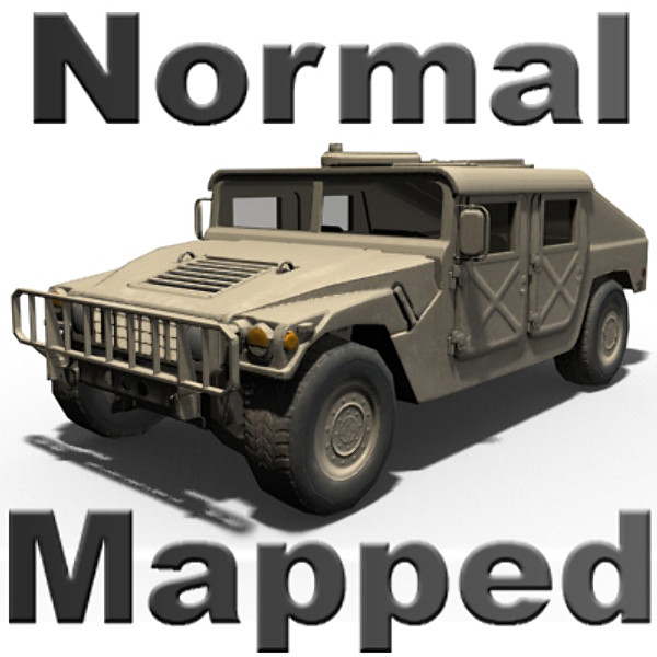 low-poly hmmwv normal mapping 3d model - HMMWV (Military Humvee) Normal Mapped... by Braden Lehman